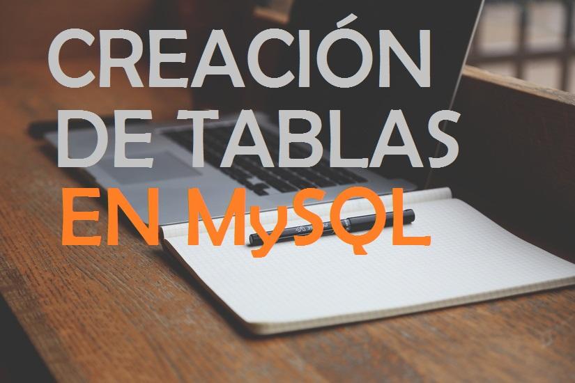 creación de tablas en MySQL