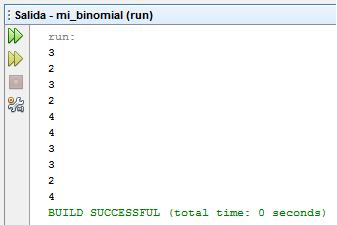 Programa Java Binomial