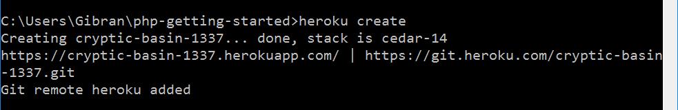Heroku create