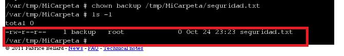 eguridad sistema archivos