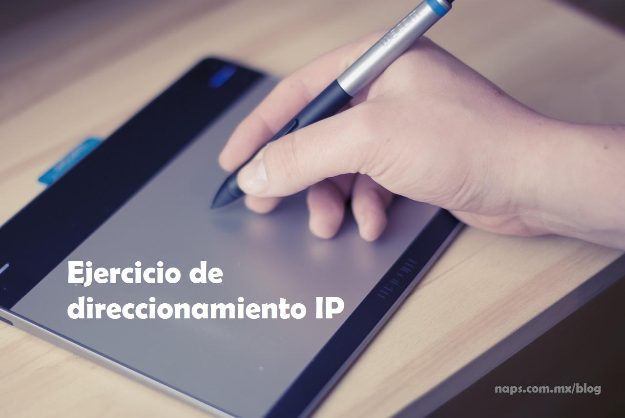 ejercicio de direccionamiento IP