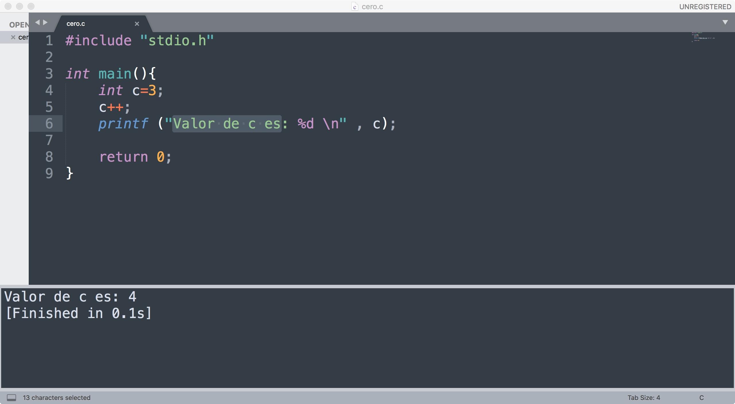 Compilar y Ejecutar C desde Sublime Text