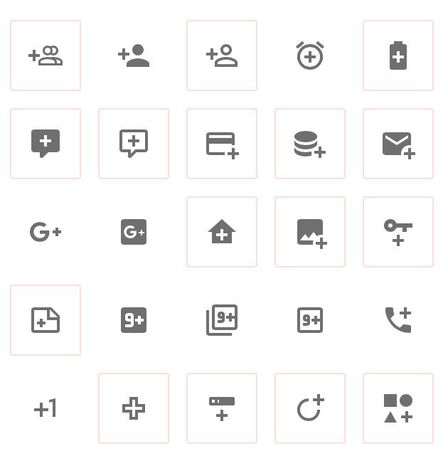 Algunos iconos disponibles en materialdesingicons.com