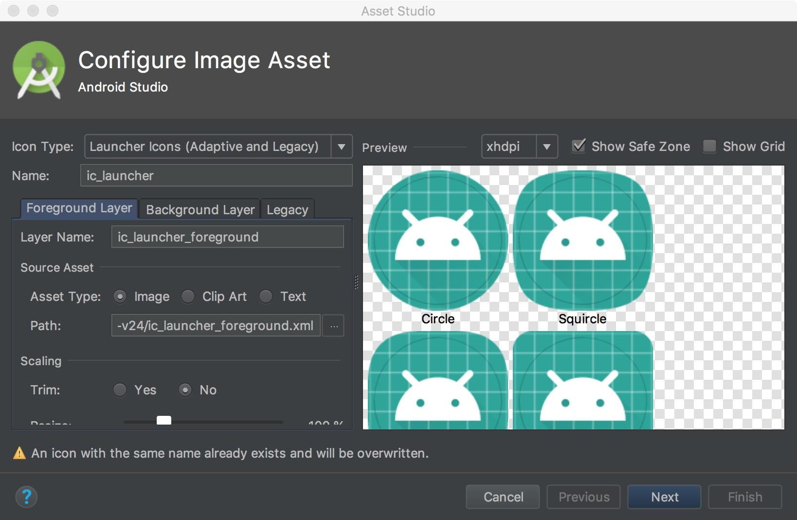 Ventana Configure Image Asset